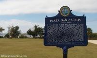 Plaza San Carlos sign