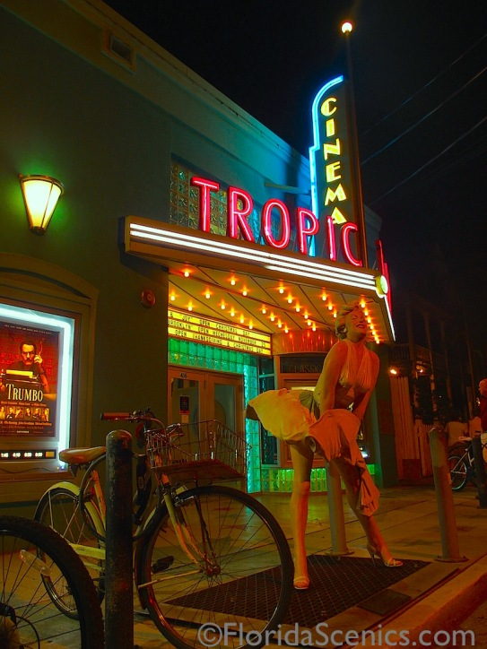 Marilyn outside Tropic Cinema