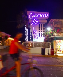 Orchid neon at Orchid Key Inn