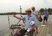 Jason Sacran, John Lasater and James Richards Demo on the dock