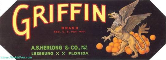 Griffin Citrus Label (Image courtesy of FloridaPast.com)